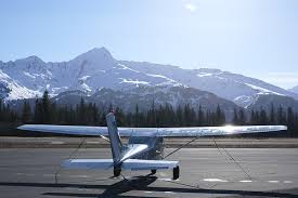 Plane and Mountain